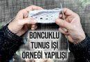 Boncuklu Tunus işi yapılışı | (Beaded tunisian knitting model)