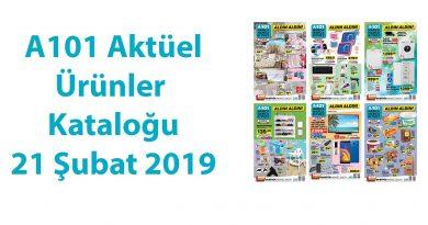 A101 Aktüel Ürünler Kataloğu – 21 Şubat 2019